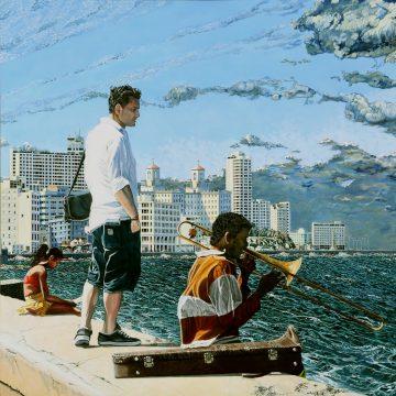 Havana Libre. Acrylique sur toile sablée. HERVE BERNARD