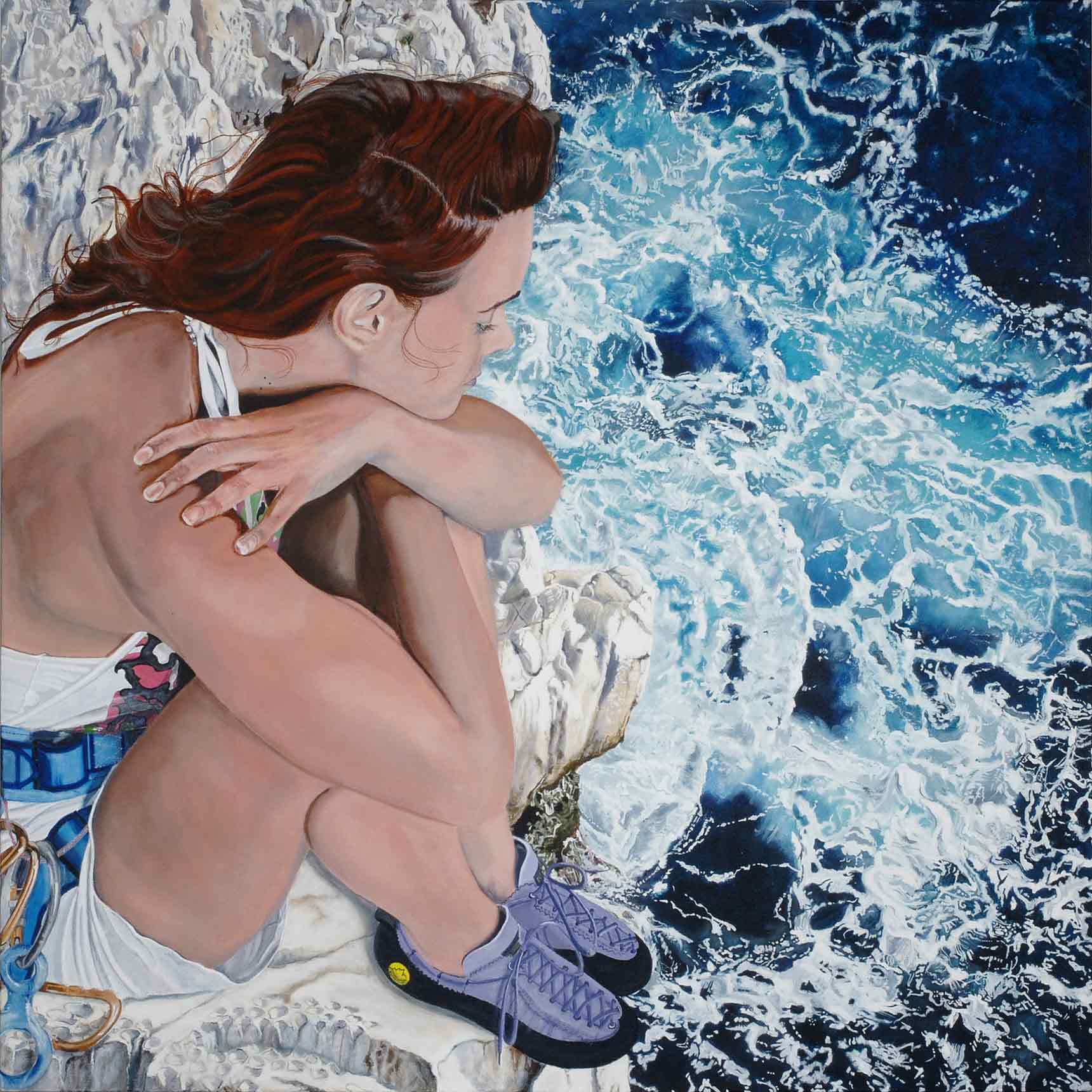 Peinture hyperréalisme Hervé Bernard : Deep Blue Sea