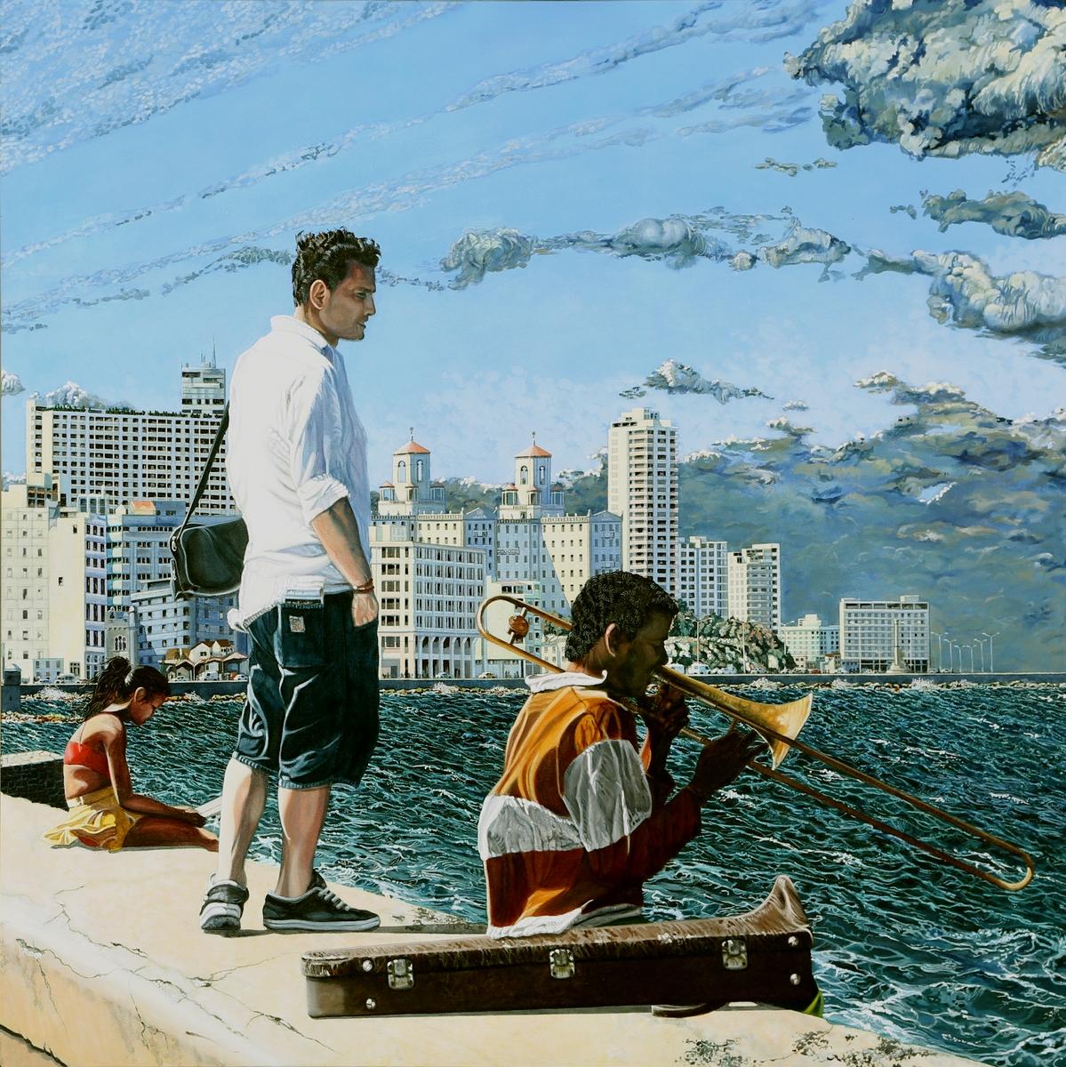 Peinture hyperréalisme Hervé Bernard : Havana Libre