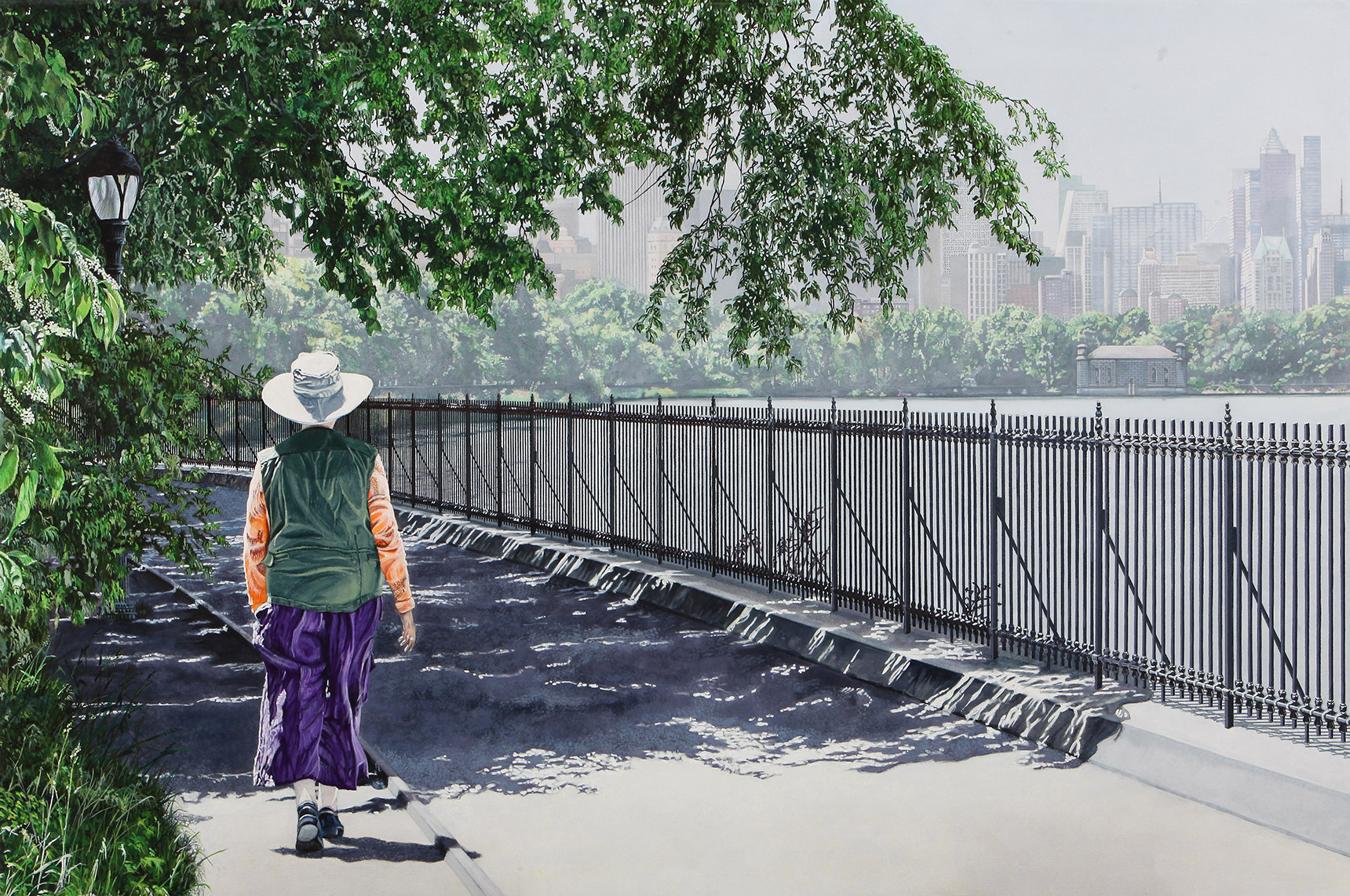 Peinture hyperréalisme Hervé Bernard : Jusqu'à la rive
