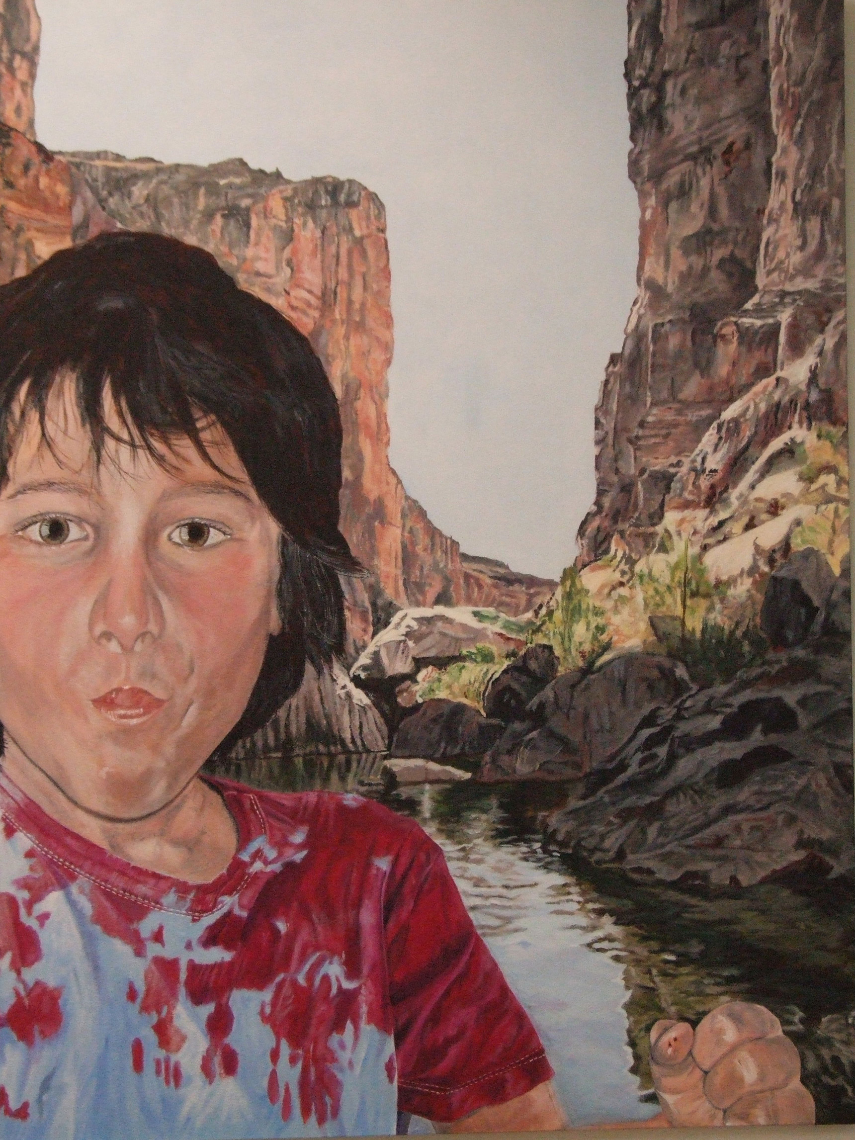 Peinture hyperréalisme Hervé Bernard : Rio Grande