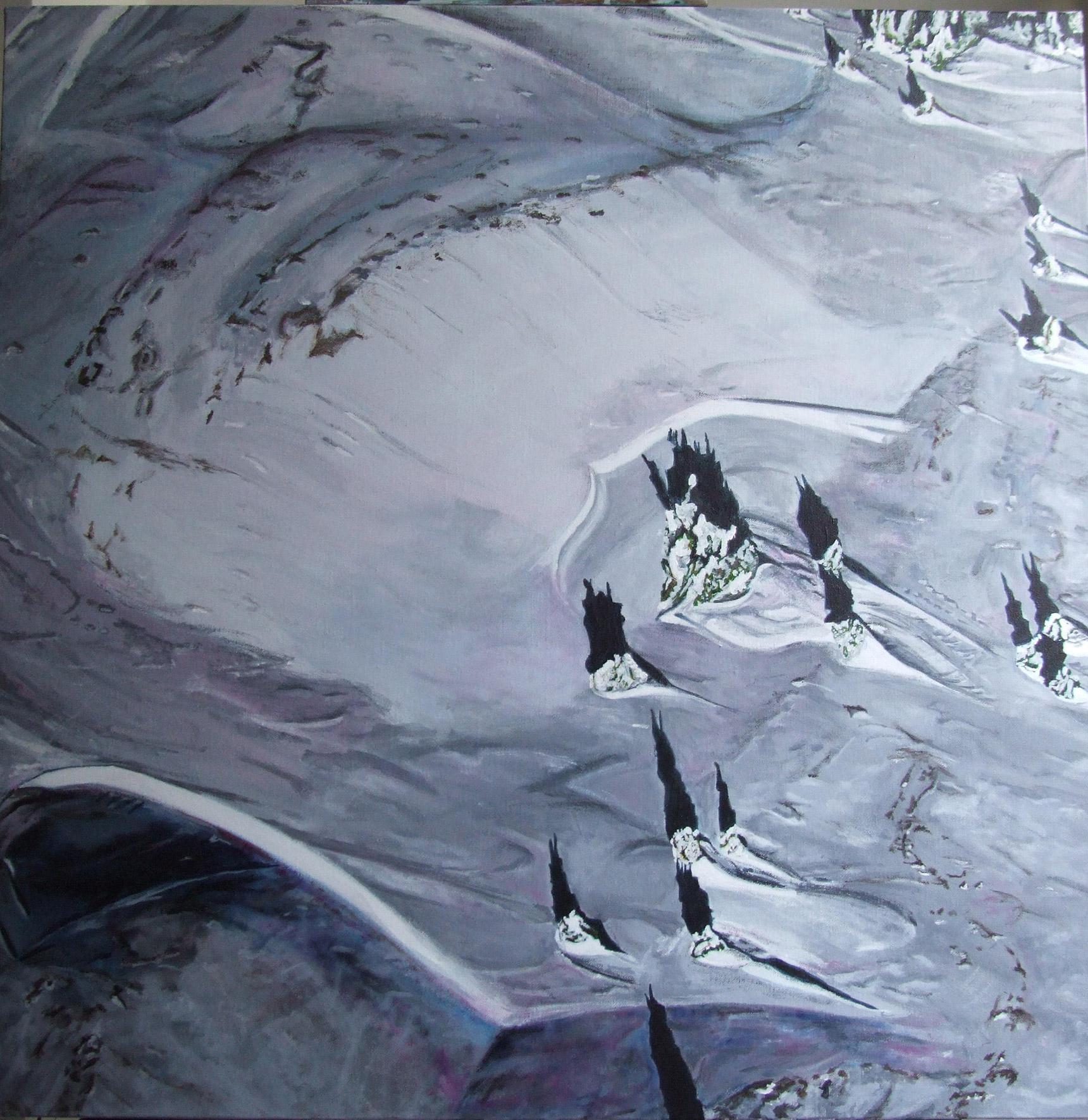 Peinture hyperréalisme Hervé Bernard : Si on dansait