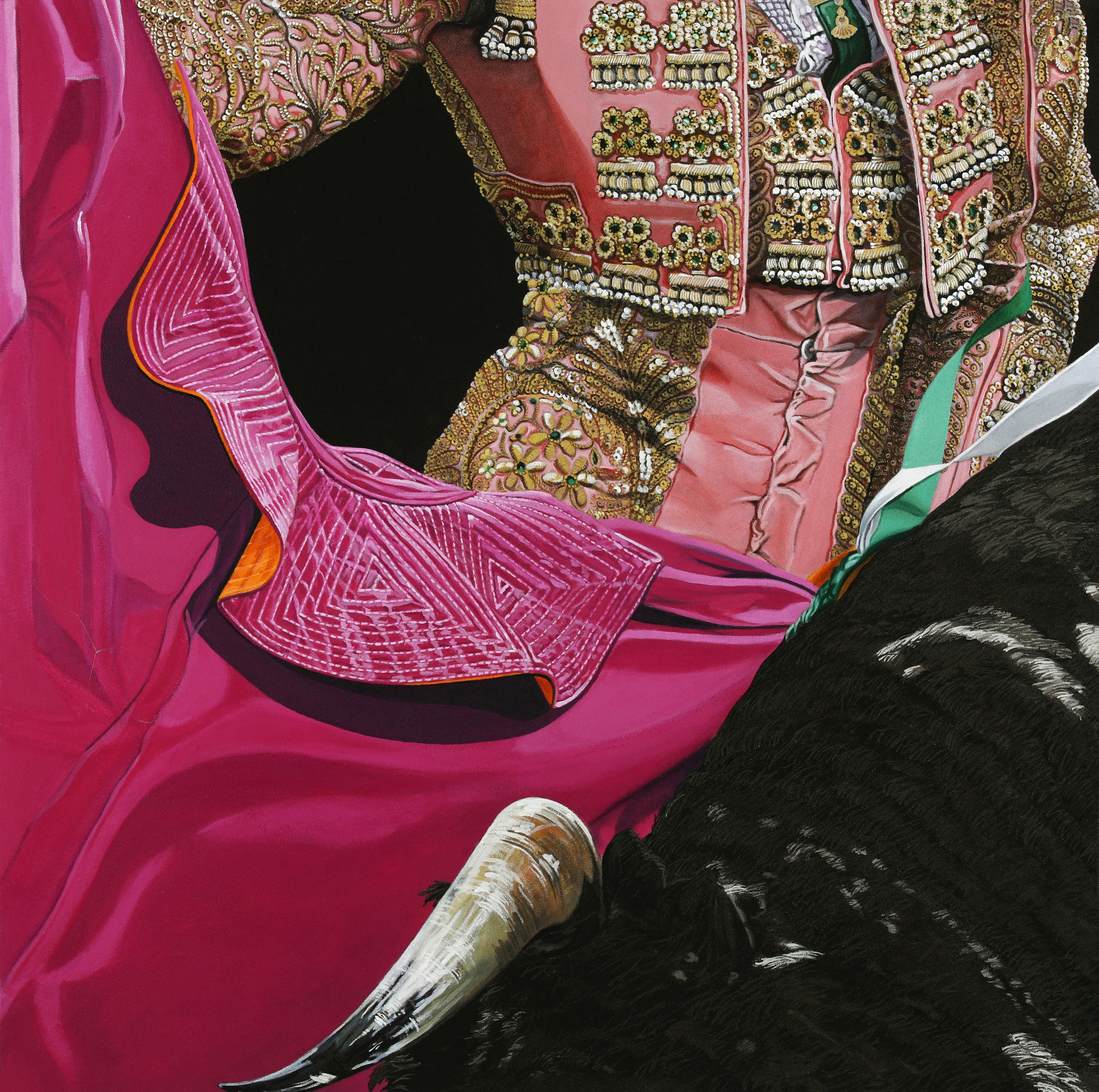 Peinture hyperréalisme Hervé Bernard : Ruedo 3