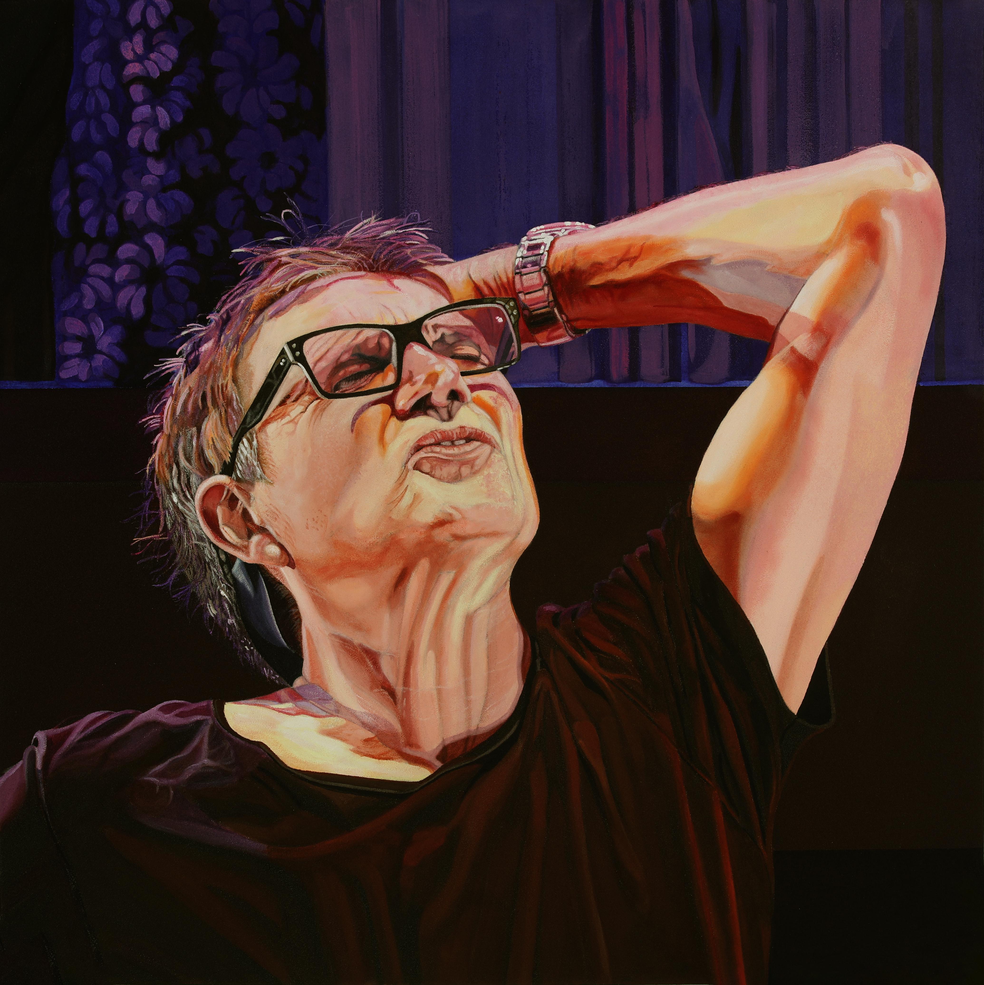 Peinture hyperréalisme Hervé Bernard : Avant la tempête