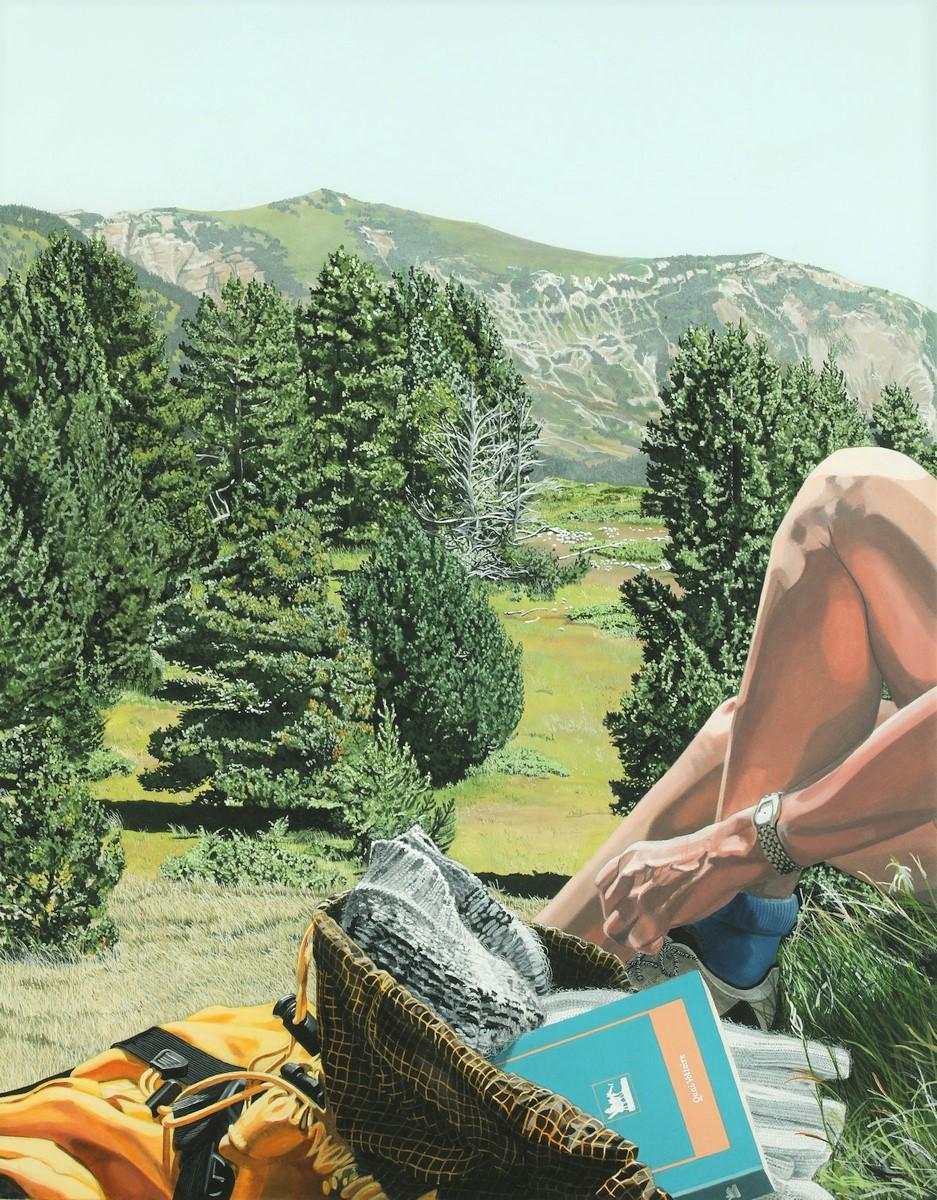 Peinture hyperréalisme Hervé Bernard : EVERYTHING IS POSSIBLE
