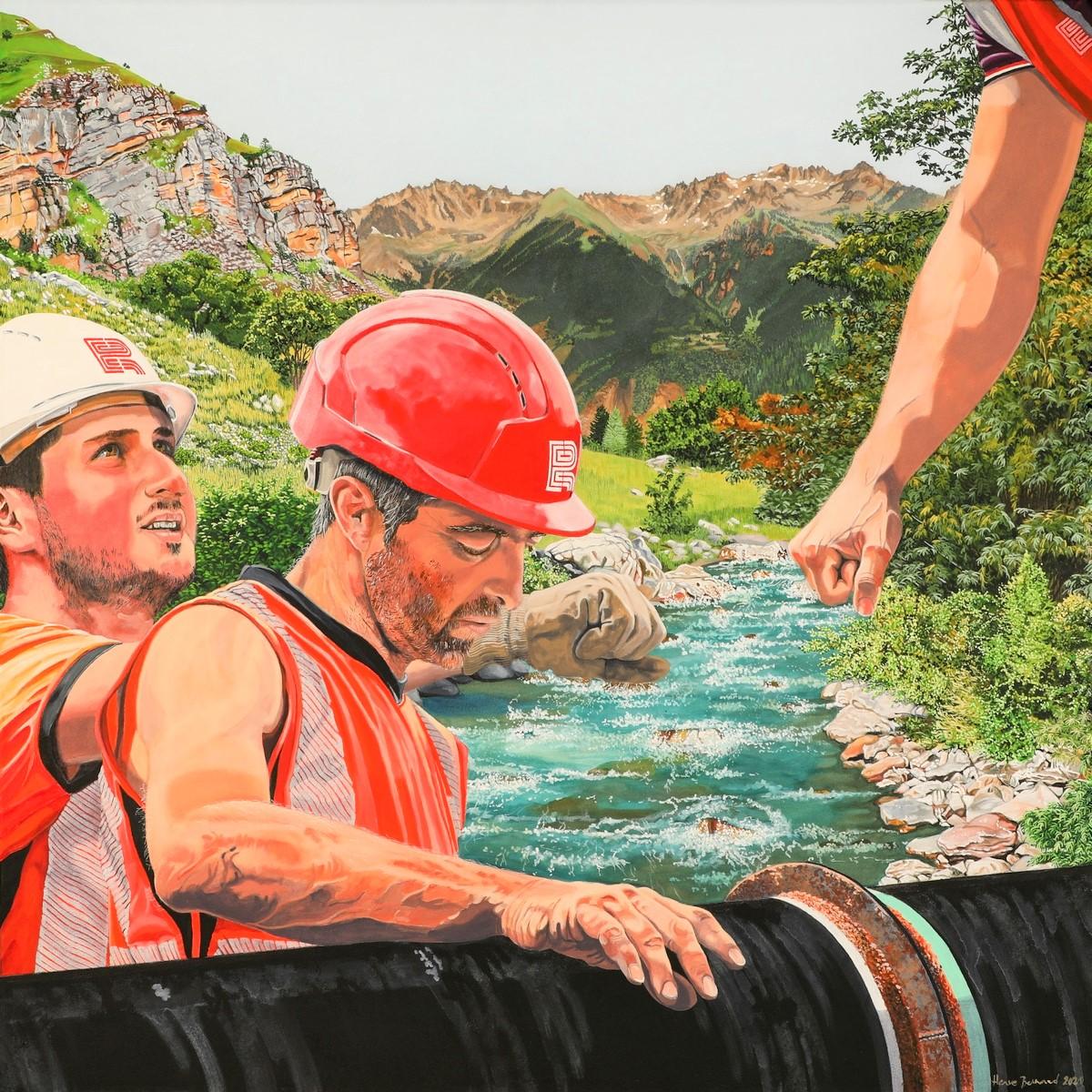 Peinture hyperréalisme Hervé Bernard : ITS THE MOST IMPORTANT